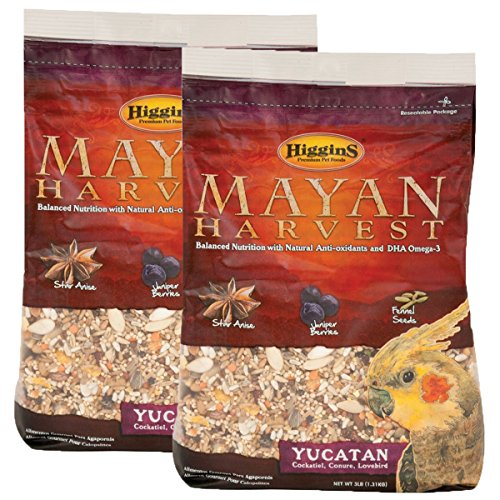 Higgins Mayan Harvest Yucatan Food Mix for Cockatiels, Lovebirds & Conures, 6 lbs.