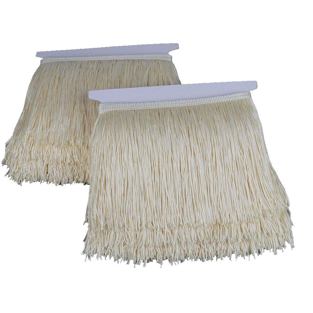 Heartwish268 Fringe Trim Lace Polyerter Fibre Tassel 6inch Wide 10 Yards Long for Clothes Accessories Latin Wedding Dress DIY Lamp Shade Decoration Black White Red Rose Pink