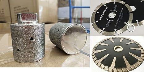"2/"" Zero Tolerance Diamond Sink Hole Grinding drum 3 cup wheel stone concrete cut"