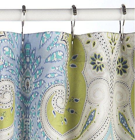 Amazon Echo Design Sardinia Fabric Shower Curtain Home Kitchen