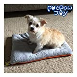 PETPAWJOY THE #1 HIGH QUALITY Washable Pet Warm Soft House Pad Crate Cushion Mat for Dogs Cats Supper Warm Pet Blanket Furry Bed Crate Mat,33 x 31 Inch