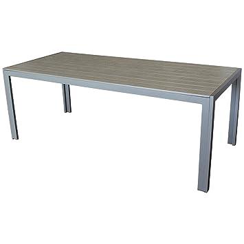 Grande de aluminio polywood mesa de jardín 205 x 90 x 74 cm comedor ...