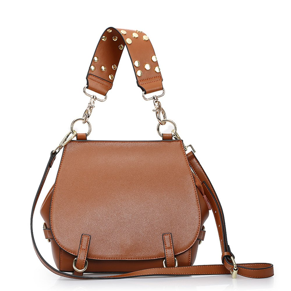 Sheli Leather Purses and Handbags Womens Hobo Crossbody Shoulder Bag Brown