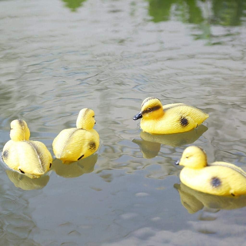Color : Natural ZANGAO 6 St/ück Life Size Kunststoff schwimmende Enten Mallard-Jagd-Schie/ßen Decoy Teich Fl/üsse Gartendeko Kleiner Entenlockv/ögel
