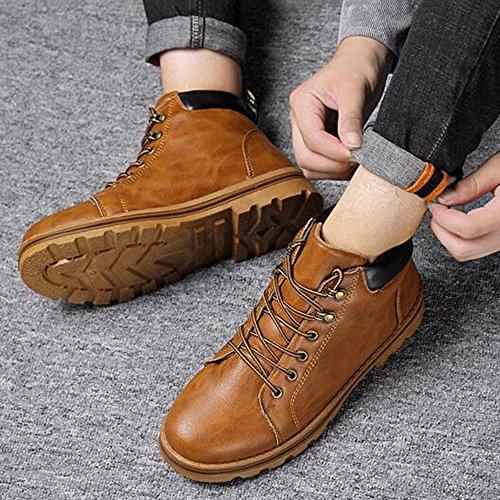 Men's Shoes Feifei Winter Fashion Keep Warm Non-Slip Martin Boots 3 Colors (Size Multiple Choice) (Color : 02, Size : EU39/UK6/CN39)