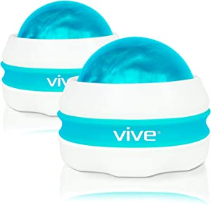 Vive Massage Roller Ball (2-Pack) - Self, Full Body Manual Mini Massager for Athletes and Sore Muscle Pain Relief, Recovery - Relaxing Therapy for Arms, Legs, Back and Foot