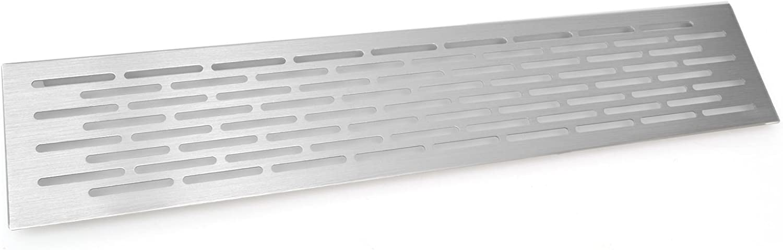 Rejilla de ventilacion para cocina en cromo inox superficie de ...