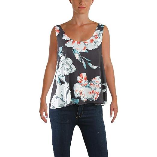 0d586b9ffc37e 1.State Womens Chiffon Printed Blouse Gray XS at Amazon Women s ...