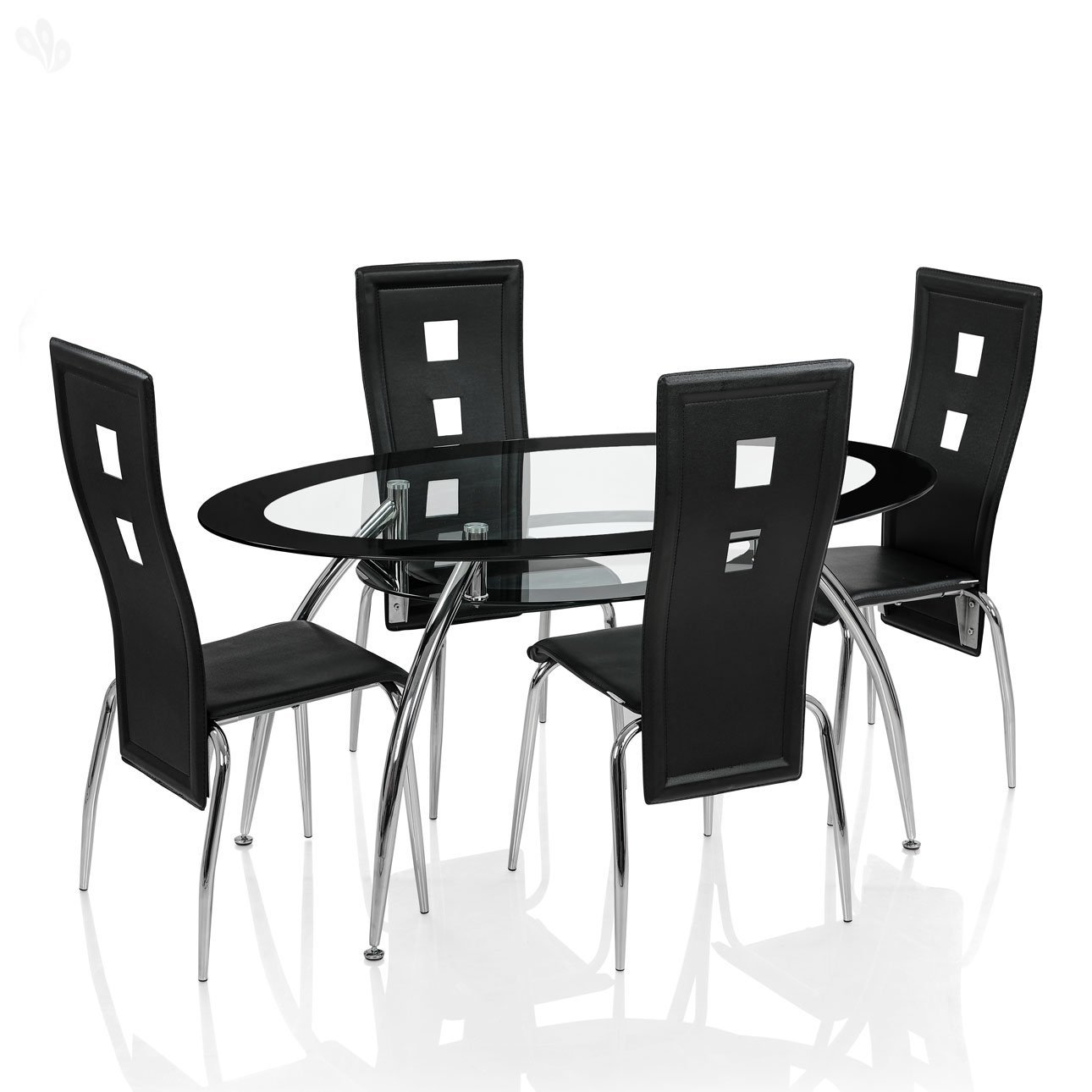 royal oak roger dining set with 4 chairs black amazon in home royal oak roger dining set with 4 chairs black amazon in home kitchen