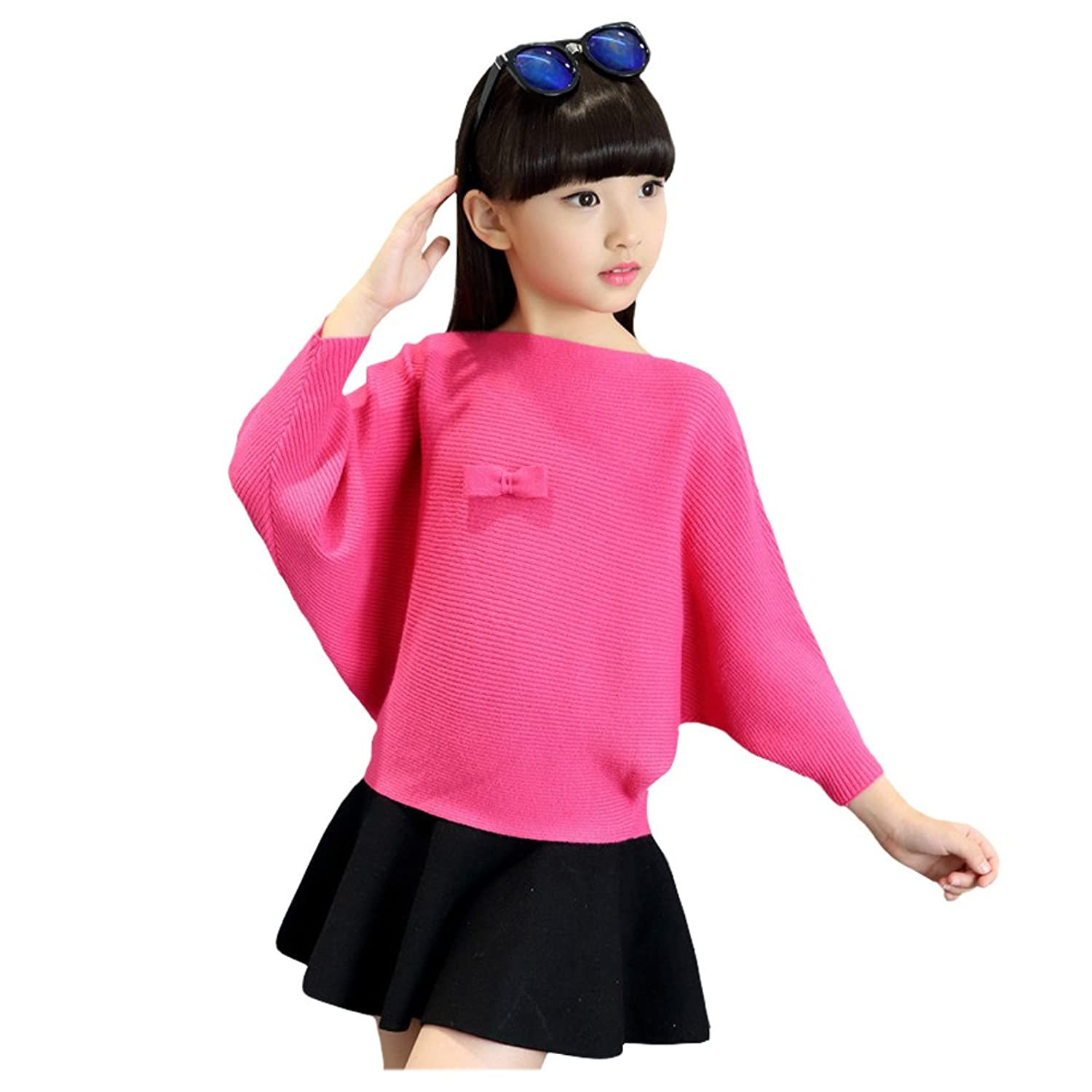 FREE FISHER Baby Girls Batwing-Sleeved Sweater Blouse Pullover Spring Autumn