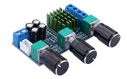 Tablero del Amplificador,Yeeco 80W + 80W Doble Canal Amplificador de Audio Estéreo DC12-