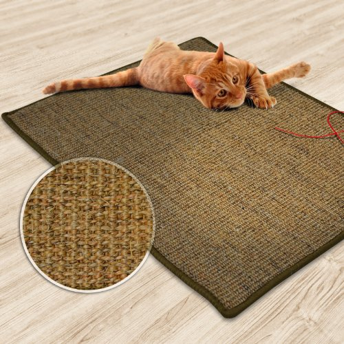 casa-pura-Sisal-Cat-Scratch-Mat-Cork-Tweed-Protection-Play-Pad-Multiple-Sizes-Available