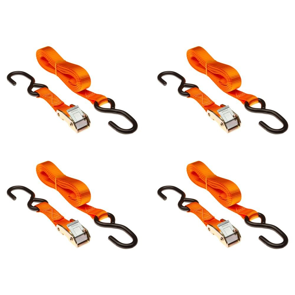 Discount Ramps Rage Powersports VH-Strap-C-10-O Tie-down Strap Set (120' Orange Motorcycle and ATV Cam Buckle) by Discount Ramps (Image #1)