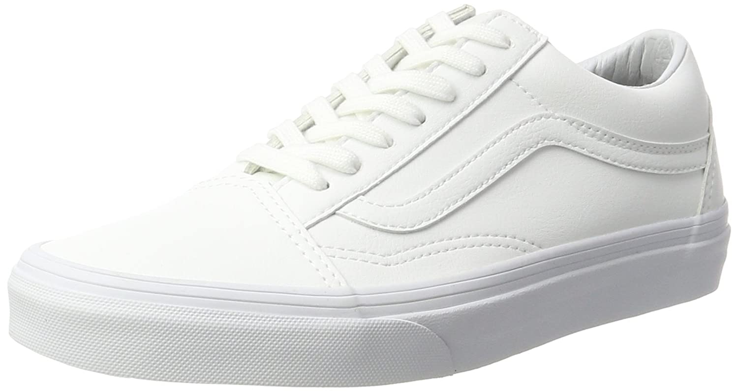 Vans Unisex Old Skool Classic Skate Shoes B01N0OSL88 8 B(M) US Women / 6.5 D(M) US Men|True White