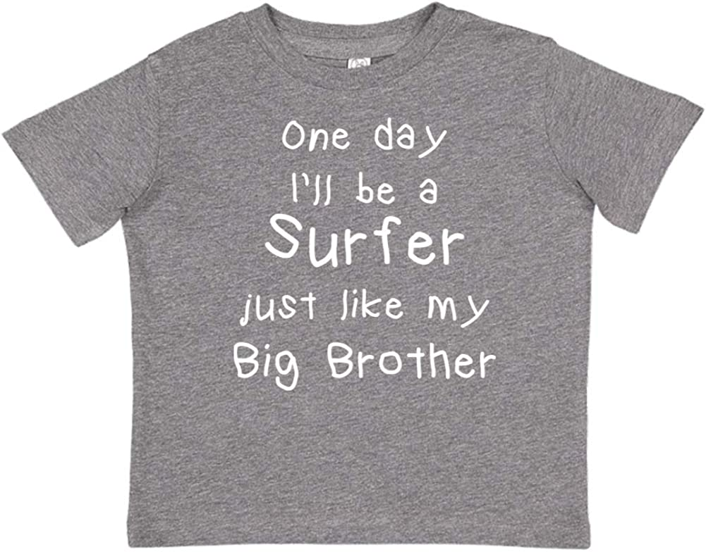 Toddler//Kids Short Sleeve T-Shirt One Day Ill Be A Surfer Just Like My Big Brother