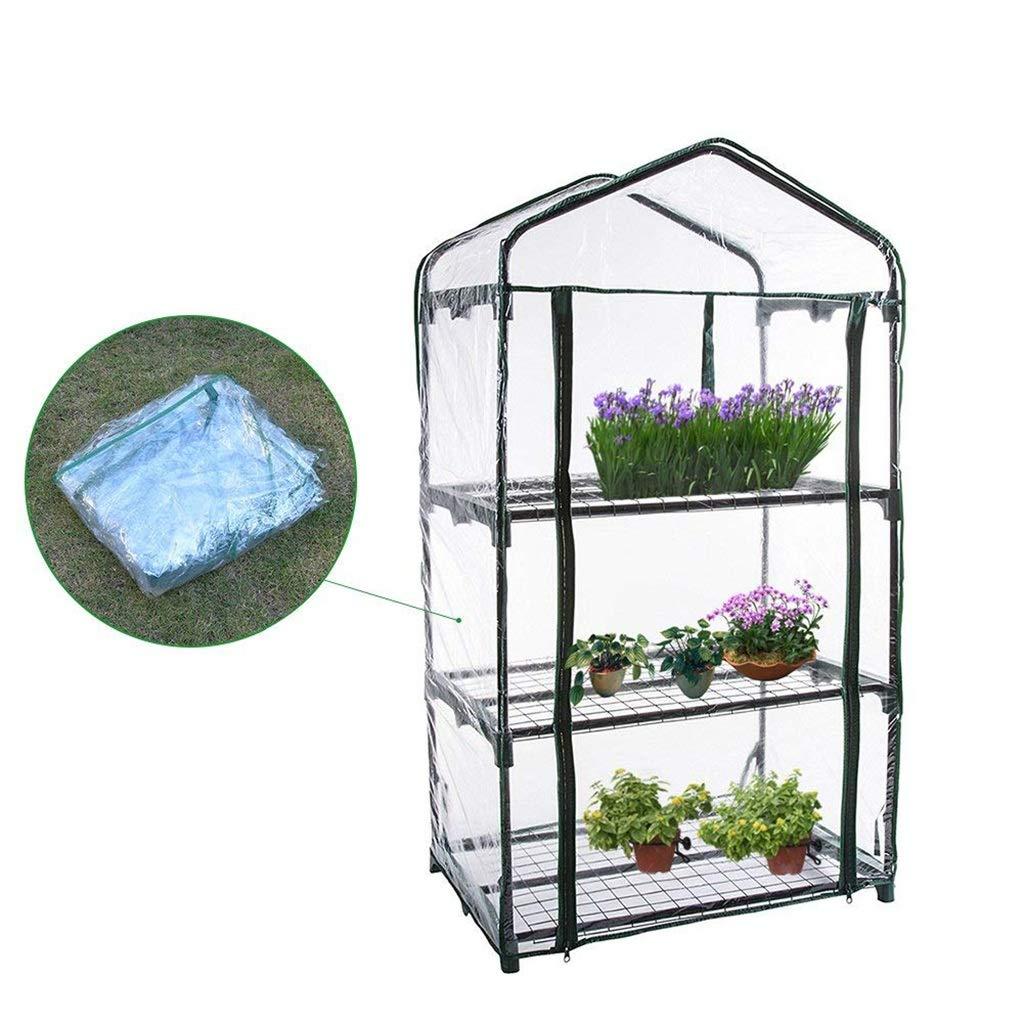 温室、ティアミニプラント温室PVCプラント温室、栽培種子、苗、鉢植え花 B07KNHQDL1