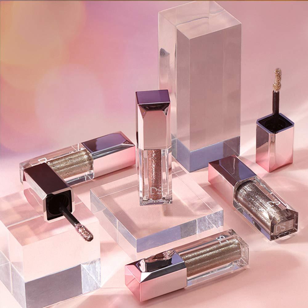 4 Pack Glitter Liquid Eyeshadow -High Pigmented Diamond Glow Metallic,Metals Foil Chameleon Quick Dry Crease Resistant Long Lasting Non-Greasy Eye shadow