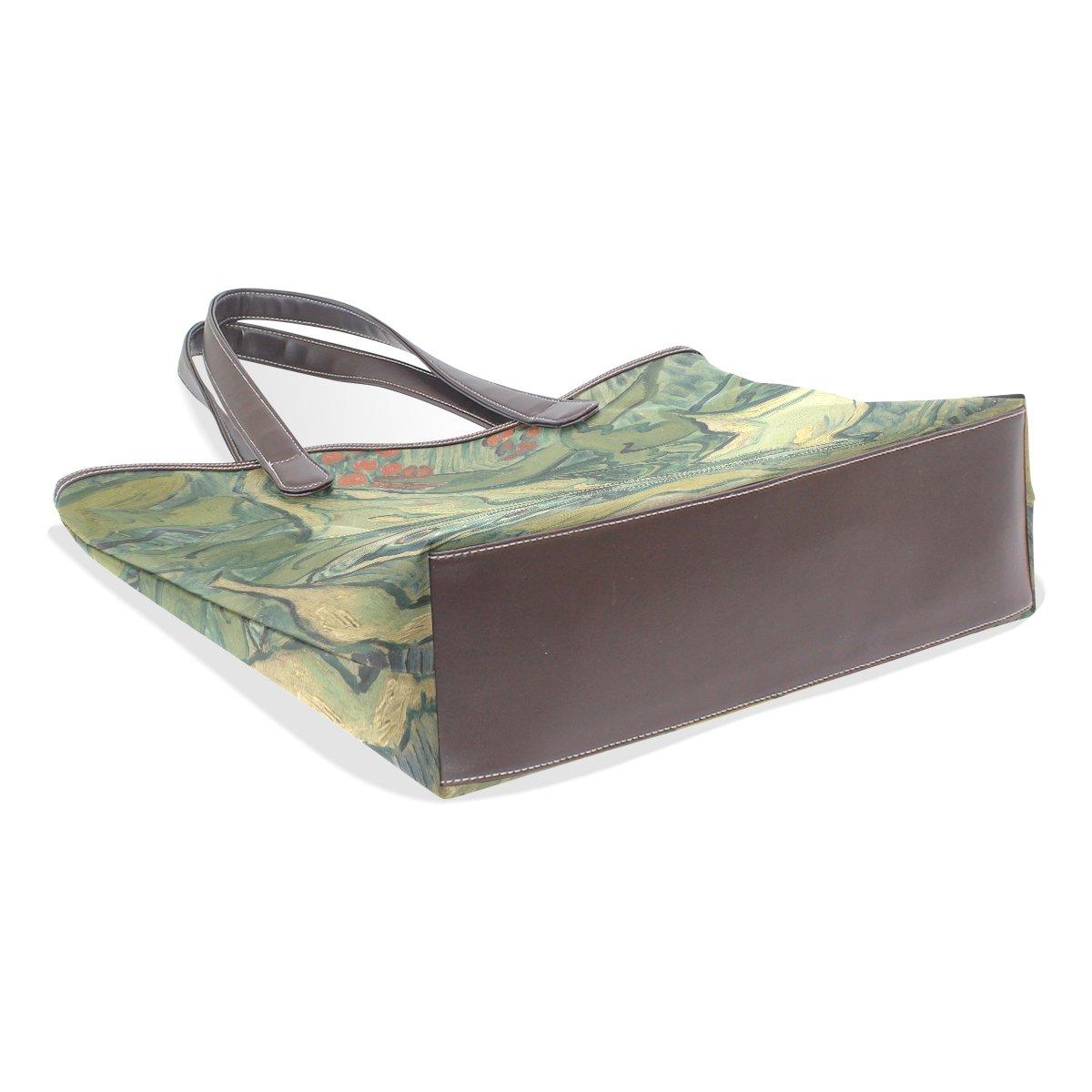 Ye Store Butterfly Lady PU Leather Handbag Tote Bag Shoulder Bag Shopping Bag