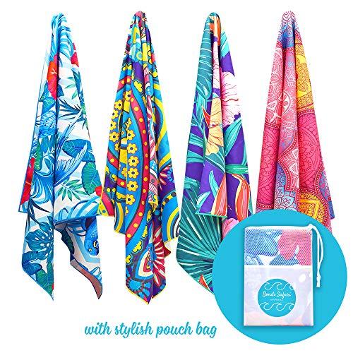 Bondi Safari Microfiber Beach Towel 69x39 XL - Quick Dry, Sand Free, Travel Beach Towel in Designer Paisley, Tropical & Boho Beach Towel Prints for Beach, Travel, Cruise, Outdoor, Gifts for Women