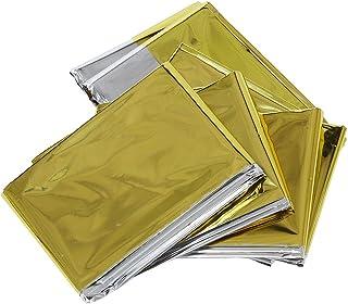 SODIAL(R) Couverture d'urgence, argent et or, taille: S (210 * 130cm)