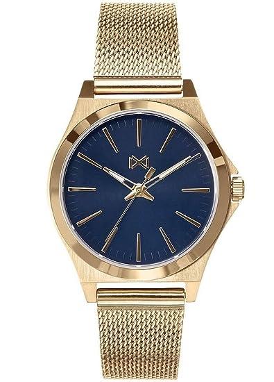 Mark Maddox Reloj Analogico para Mujer de Cuarzo con Correa en Acero Inoxidable MM7102-57: Amazon.es: Relojes