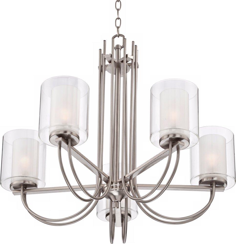 Possini euro melody 26 34 wide brushed steel chandelier possini euro melody 26 34 wide brushed steel chandelier amazon arubaitofo Gallery