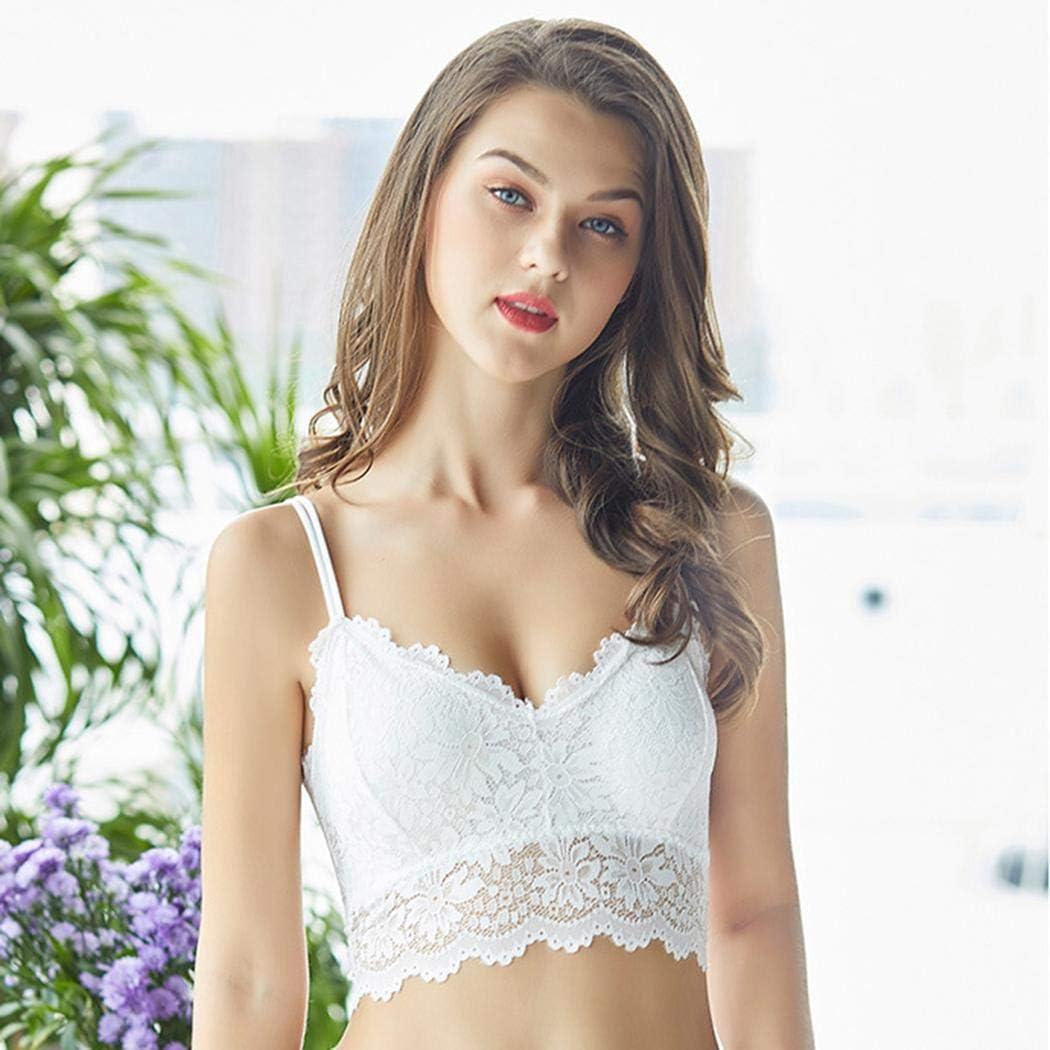 vershine Women Casual Lace Floral Spaghetti Straps Elastic Short Vest Vests