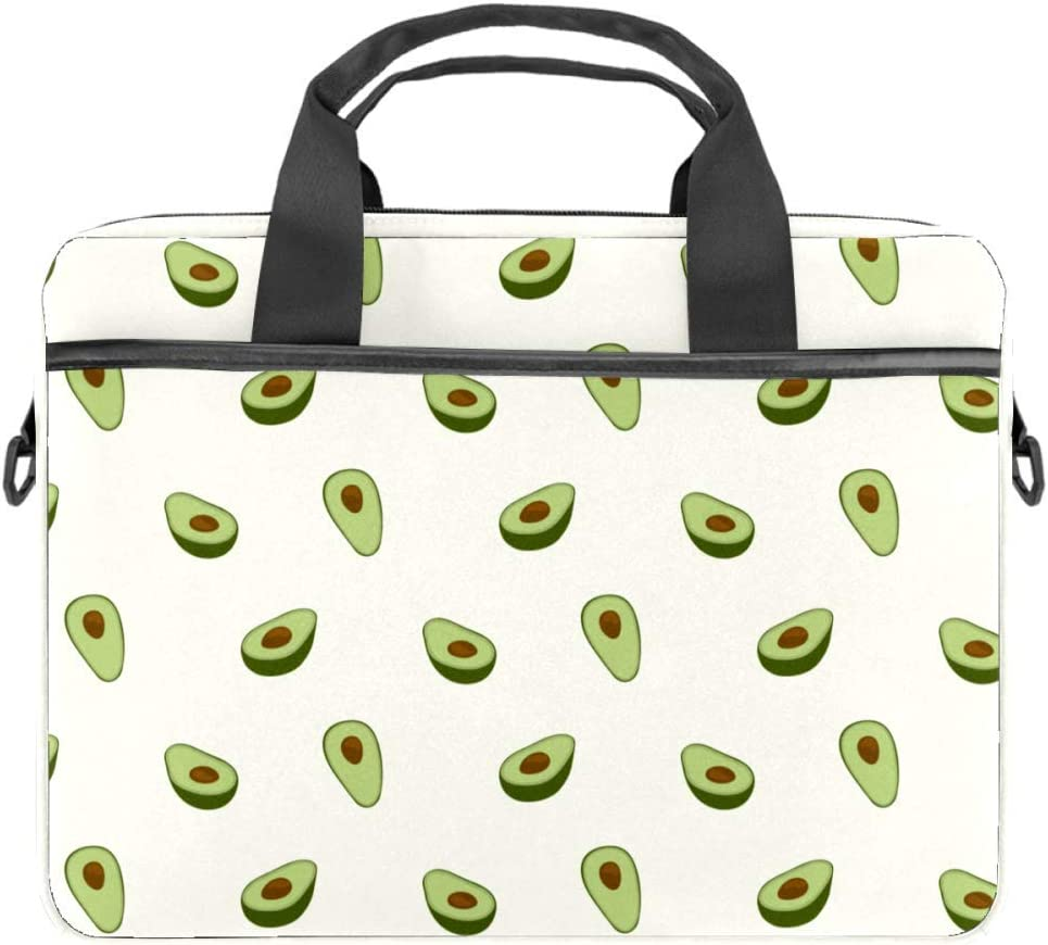 Avocado PatternLaptop Case Canvas Pattern Briefcase Sleeve Laptop Shoulder Messenger Bag Case Sleeve for 13.4-14.5 inch Apple Laptop Briefcase