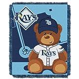 MLB Tampa Bay Rays Field Woven Jacquard Baby Throw Blanket, 36x46-Inch