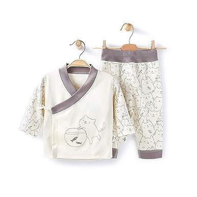 be8f72d2d Amazon.com  COBROO Newborn Baby Clothes Bodysuit Pants Set 0-12 ...