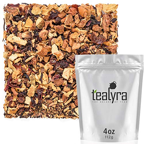 Tealyra - Honey Cardamom Spice Tea - Hibiscus - Ginger - Cinnamon - Herbal Fruity Loose Leaf Tea - Anti-Inflammatory - Wellness Hot and Iced - Caffeine-Free - 112g ()