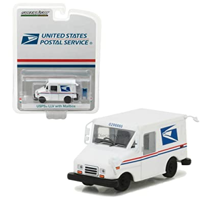 Greenlight 29888 United States Postal Service (USPS) Long Live Postal Mail Delivery Vehicle (Llv) with Mailbox Accessory Hobby Exclusive 1/64 Diecast Model Car by, White: Toys & Games