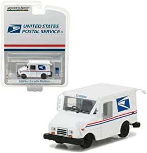 Greenlight 29888 United States Postal Service (USPS) Long Live Postal Mail Delivery Vehicle (Llv) with Mailbox Accessory Hobby Exclusive 1/64 Diecast Model Car by, White