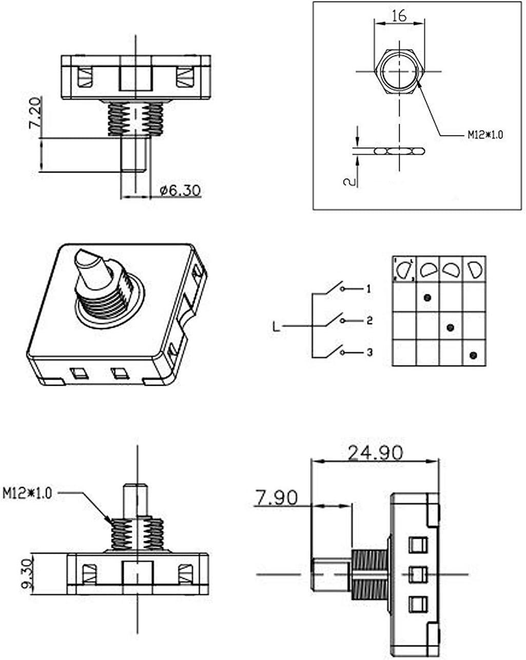 Amazon.com: HQRP 4-Position 3-Speed Fan Selector Rotary Switch Compatible  with Patton U2-1487 U2-1887 Fan Coaster: Home ImprovementAmazon.com