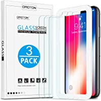 OMOTON HD Tempered Glass Screen Protector for Apple iPhone 11 Pro/ XS / iPhone X 5.8 inch [3 Pack]