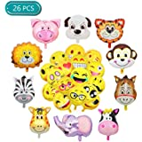 Cute Eyes Yellow Smiley Face Shaped 18 Mylar Foil Balloon Party Birthday Anagram 545218