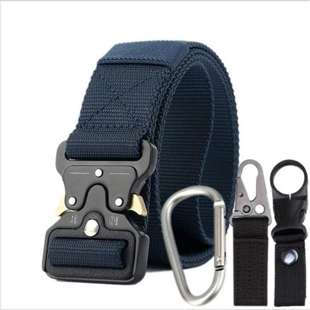 Mens Canvas Belt Quick Release Metal Buckle Nylon Training Belt