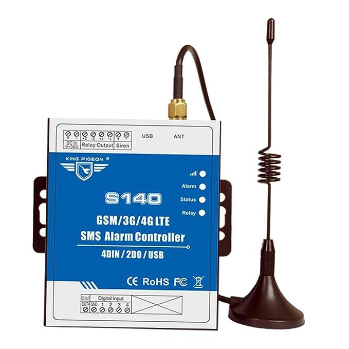 MagiDeal GSM SMS Alarma Controlador Interuptor Automatización Control de Agua Nivel Remoto Inalámbrico Terminal 1x Antena 1x Anfitrión: Amazon.es: Bricolaje ...