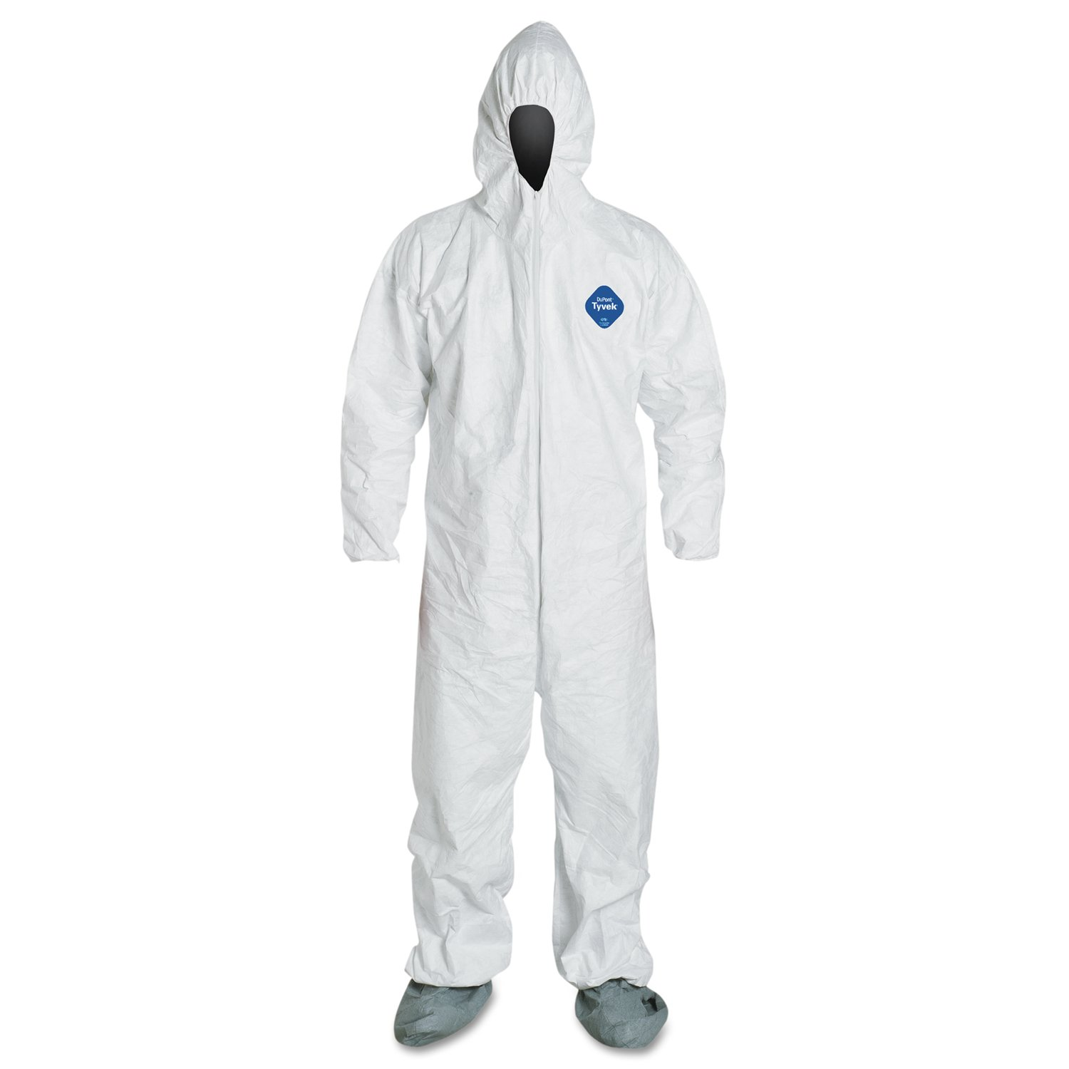 Dupont TY122S-M Tyvek Coveralls with Attached Hood and Boots, Medium, White (Pack of 25)