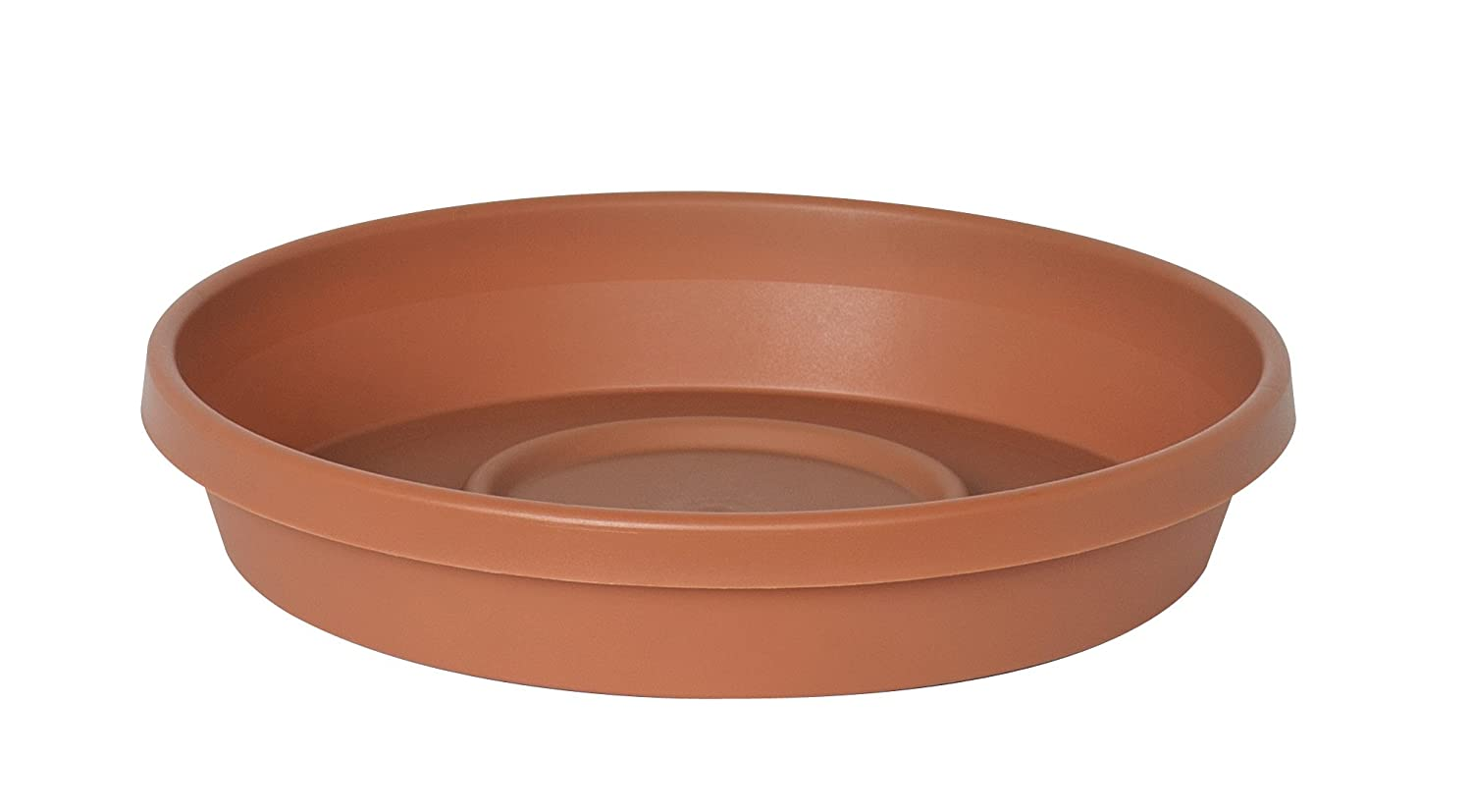 Fiskars 51020C 20-Inch outside diameter Terratray Planter Tray, Color Clay