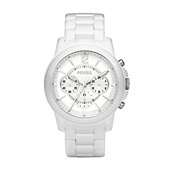 e43724e8f Image Unavailable. Image not available for. Color: Fossil Mens Grant White  Ceramic Chronograph Watch CE5012