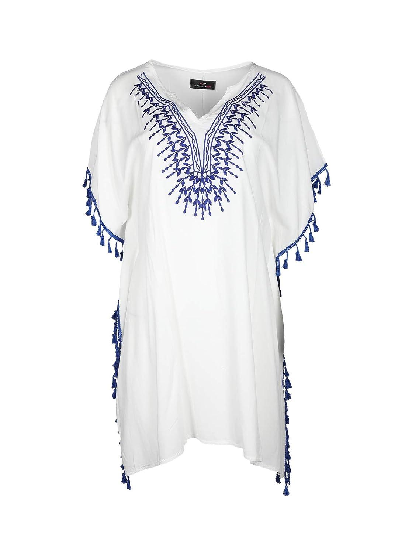 Zwillingsherz Sommerkleid im auffälligem Design - Hochwertiges Strandkleid Oberteil für Damen Mädchen - Langarmshirt Top Shirt Bluse Sweatshirt - perfektes Hemd für Sommer Frühling und Herbst