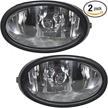 New Fog Light Trims Lamps Set of 2 Driver /& Passenger Side LH RH for Civic Pair