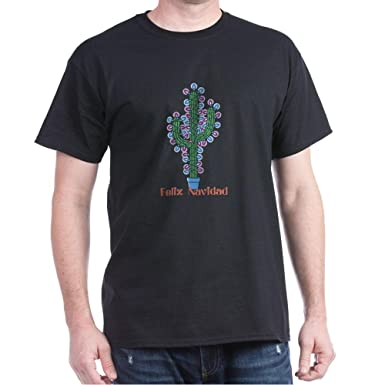 996da7eae6c Amazon.com  CafePress Navidad Cactus Dark T-Shirt Cotton T-Shirt ...