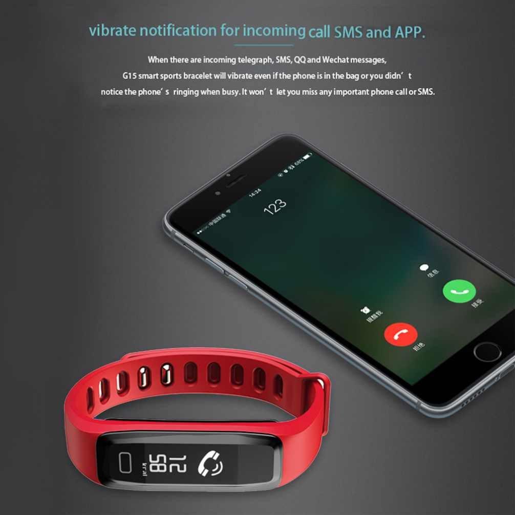 Timefewnow Fitness Bluetooth reloj de pulsera Smart Tracker podómetro Pulsómetro Tensiómetro de dormir sentada Recuerdo Contador de Calorías para iOS ...