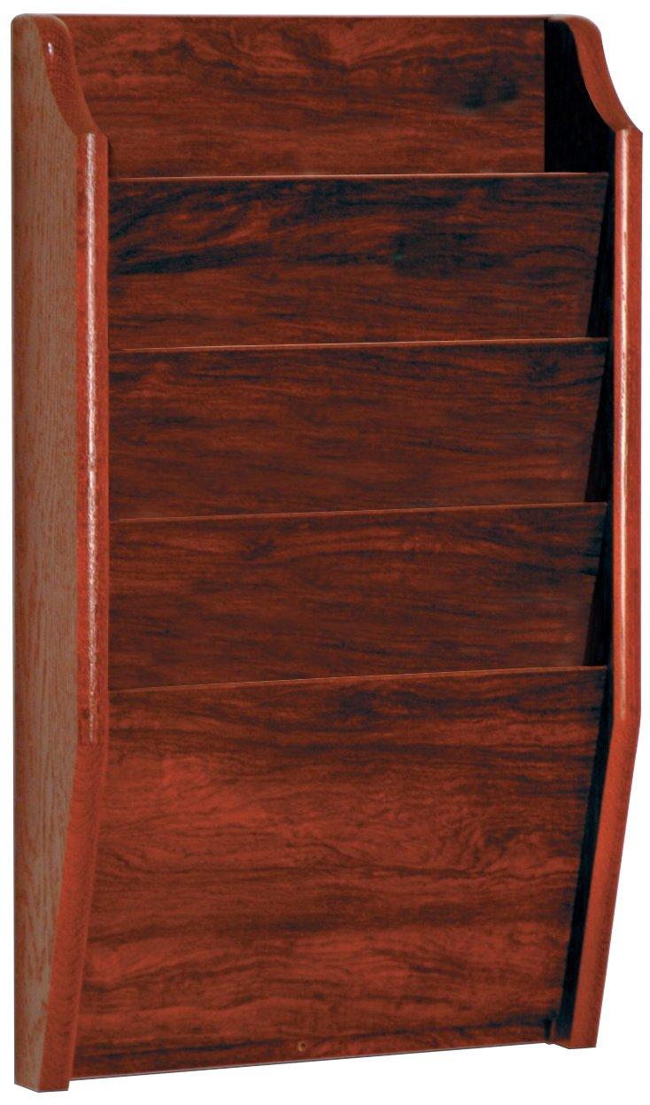 Wooden Mallet 4-Pocket File Holder, Letter Size, Light Oak CH14-2LO