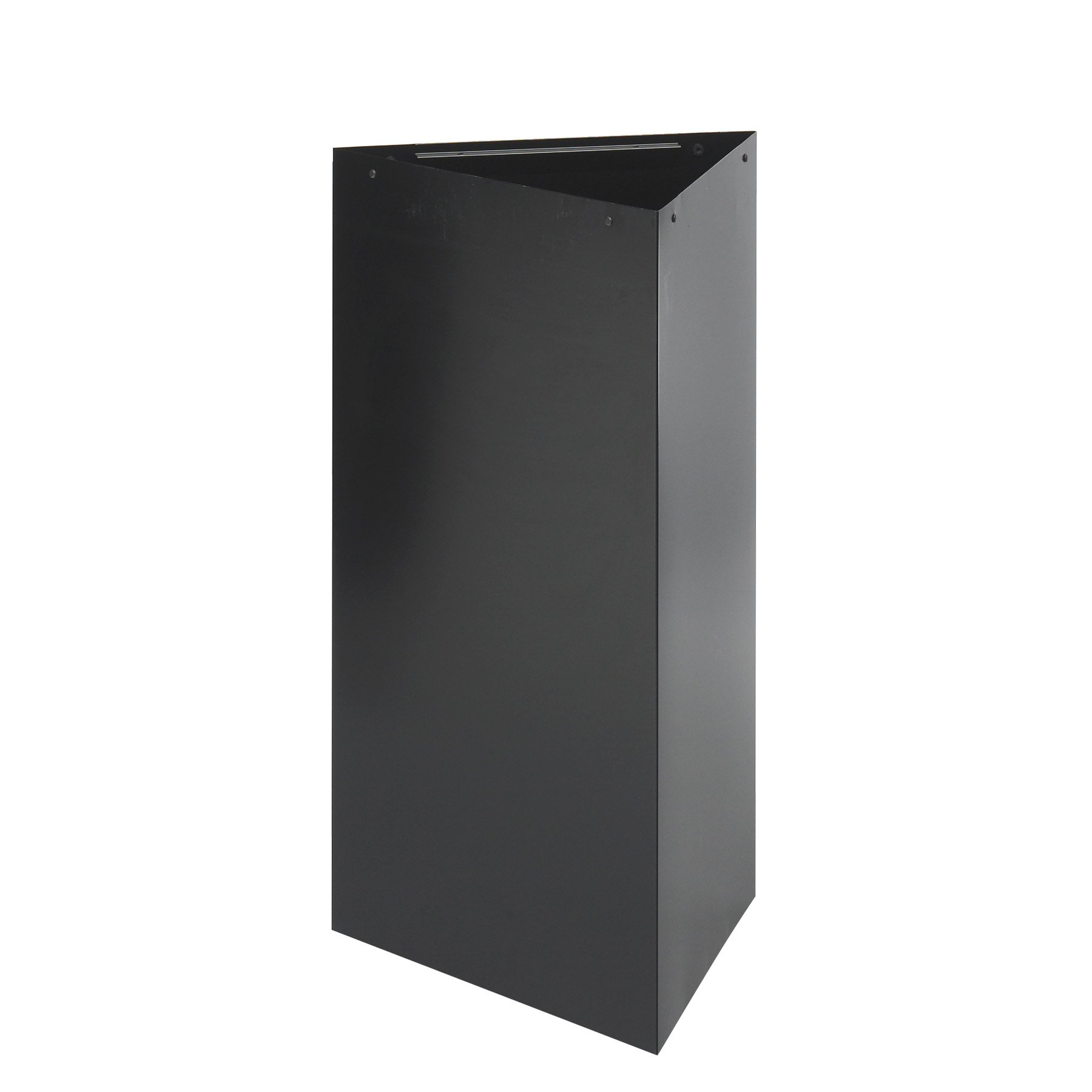 Safco Products 9552BL Trifecta Waste Receptacle 34'' High Base (Trifecta Lid sold separately), 19-Gallon, Black