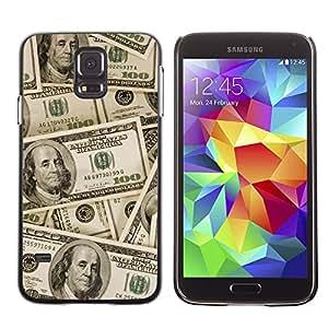 Print Motif Coque de protection Case Cover // V00001704 dinero // Samsung Galaxy S5 S V SV i9600 (Not Fits S5 ACTIVE)