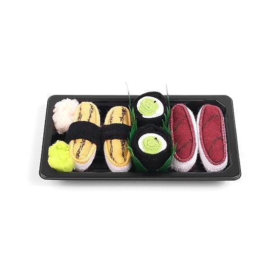 Sushi calcetines caja bebé 3 pares atún Maki pepino Tamago 2 4/5 años: Amazon.es: Ropa y accesorios
