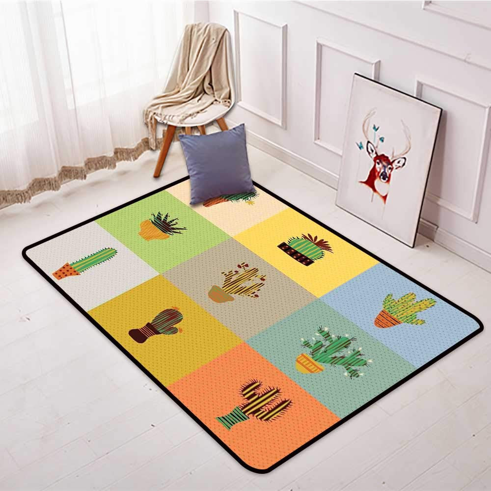 Amazon.com: Entrance Door mat Vintage Botanical Cactus ...